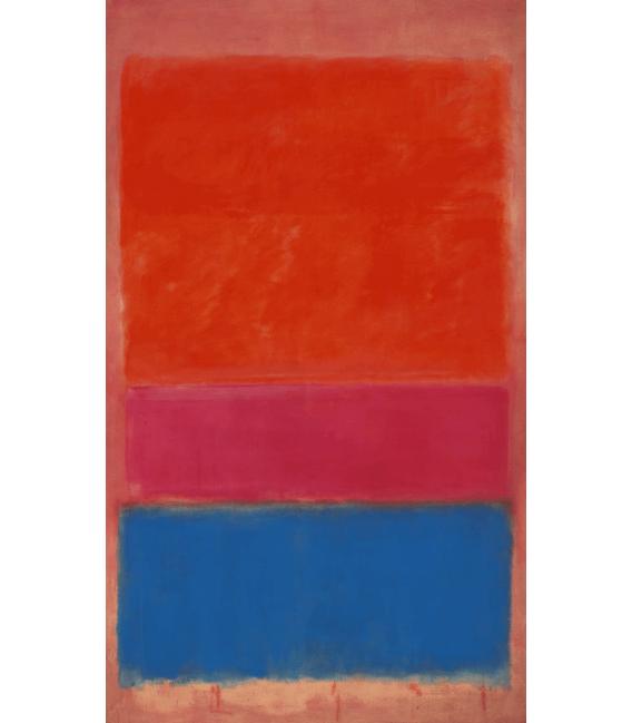 Stampa su tela: Mark Rothko - N°1 (Royal rosso e blu)