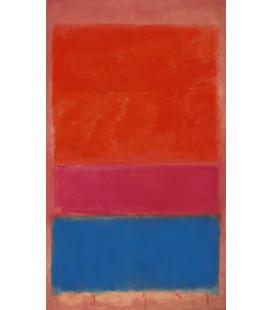 Mark Rothko - N°1 (Royal rosso e blu). Stampa su tela