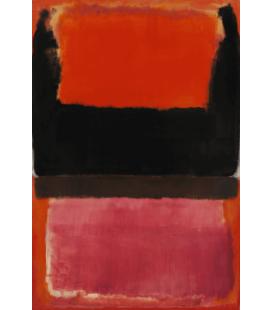 Mark Rothko - N°21 (Rosso, Marrone, Nero e Arancione). Stampa su tela