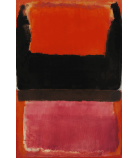 Mark Rothko - No. 21 (Red, Brown, Black and Orange). Printing on canvas