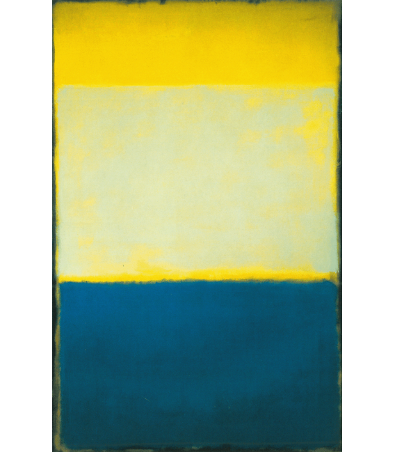 Stampa su tela: Mark Rothko - N°6 (yellow, White, Blue over Yellow on Gray)
