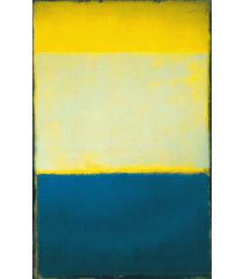 Mark Rothko - N°6 (Giallo, Bianco, Blu sopra Giallo su Grigio). Stampa su tela