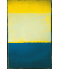 Mark Rothko - No. 6 (yellow, White, Blue over Yellow on Gray). Printing on canvas