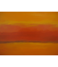 Mark Rothko - Orange and Red again. Printing on canvas