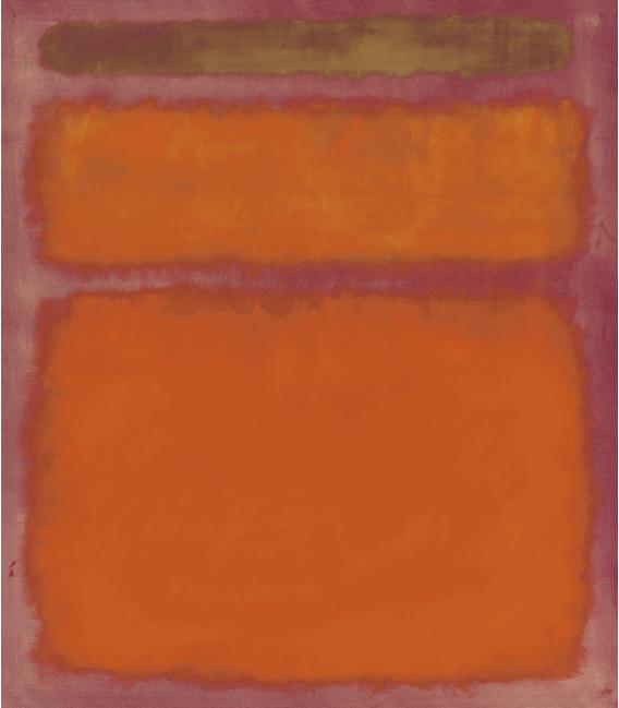 Stampa su tela: Mark Rothko - Orange, Red, Yellow