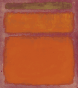 Mark Rothko - Arancione, Rosso e Giallo. Stampa su tela
