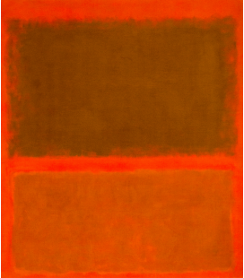Mark Rothko - Red, red, red. Printing on canvas