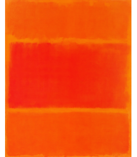 Printing on canvas: Mark Rothko - Red and Orange in 1955