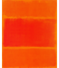 Mark Rothko - Red and Orange in 1955. Printing on canvas