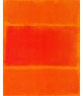 Mark Rothko - Rosso e Arancione 1955. Stampa su tela