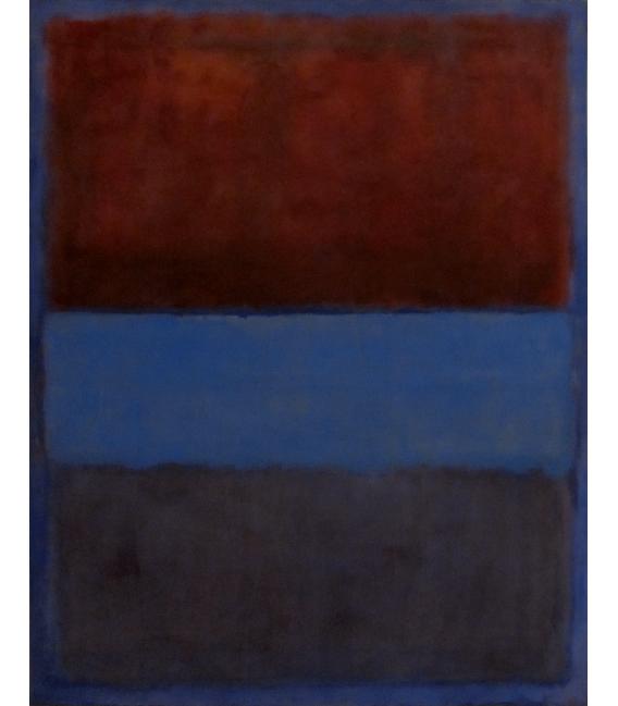 Stampa su tela: Mark Rothko - Rust and blue, 1953