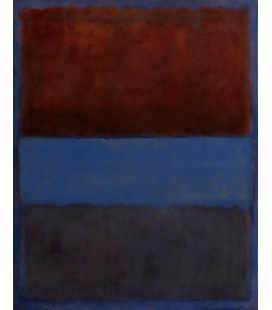 Mark Rothko - Ruggine e blu, 1953. Stampa su tela