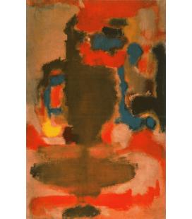 Mark Rothko - Senza titolo (1949). Stampa su tela