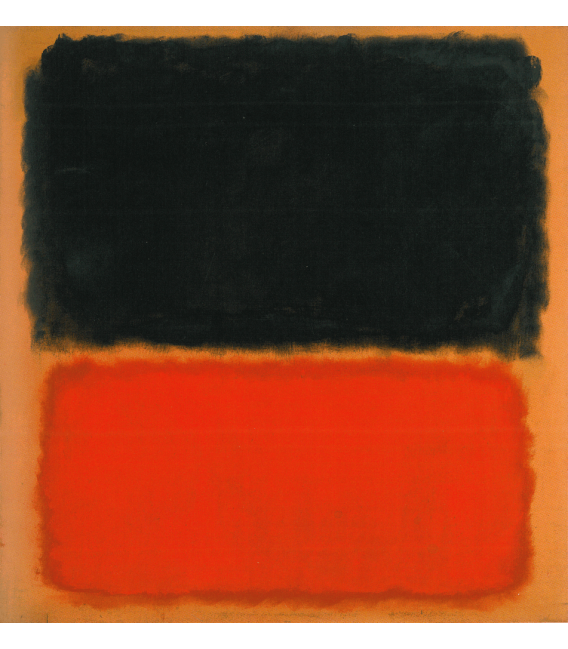 Stampa su tela: Mark Rothko - Untitled (Black and Orange on Red)
