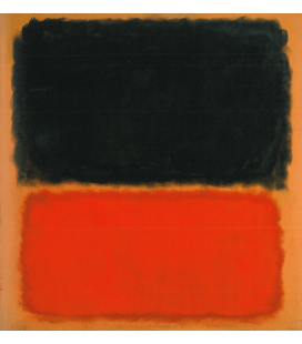 Mark Rothko - Untitled (Black and Orange on Red). Printing on canvas