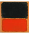 Mark Rothko - Senza Titolo (Nero e Arancione su Rosso). Stampa su tela
