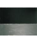 Mark Rothko - Untitled (Nero su Grigio). Stampa su tela