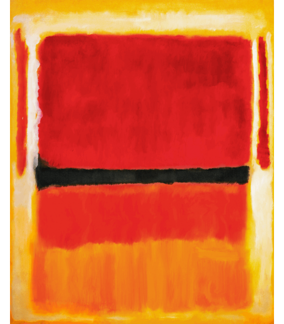 Stampa su tela: Mark Rothko - Untitled (Violet, Black, Orange, Yellow on White and Red) 1949