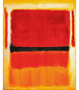 Stampa su tela: Mark Rothko - Untitled (Violet, Black, Orange, Yellow on White and Red) 1949