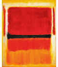 Mark Rothko - Untitled (Violet, Black, Orange, Yellow on White and Red), 1949. Printing on canvas