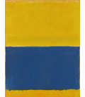 Mark Rothko - Yellow and Blue. Printing on canvas