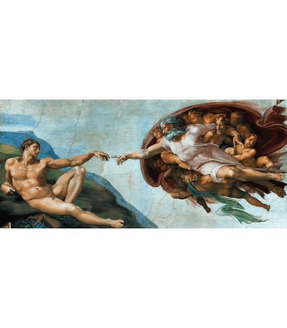 Stampa su tela: Michelangelo Buonarroti - Creazione di Adamo