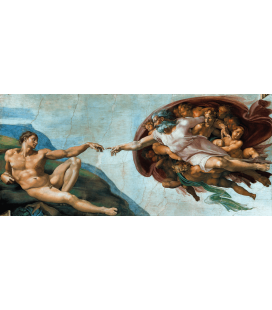 Michelangelo Buonarroti - Creation of Adam. Printing on canvas