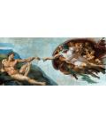 Michelangelo Buonarroti - Creazione di Adamo. Stampa su tela