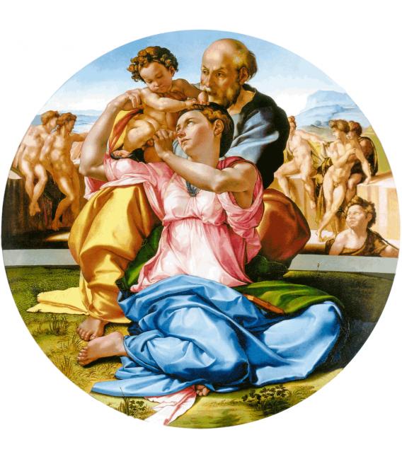 Stampa su tela: Michelangelo Buonarroti - Tondo Doni