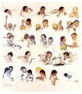 Printing on canvas: Norman Rockwell - A Day in the Life of a Boy
