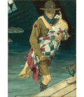 Norman Rockwell - A Scout is Helpful. Printing on canvas