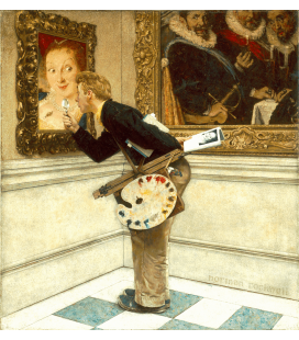 Norman Rockwell - Art Critic. Printing on canvas