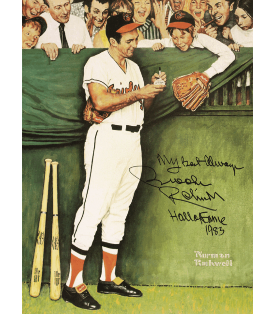 Stampa su tela: Norman Rockwell - Baseball, gee thanks Brooks