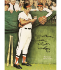 Norman Rockwell - Baseball, gee thanks Brooks. Printing on canvas