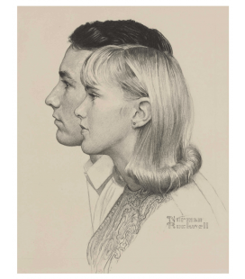 Stampa su tela: Norman Rockwell - Berkshire Community College Students