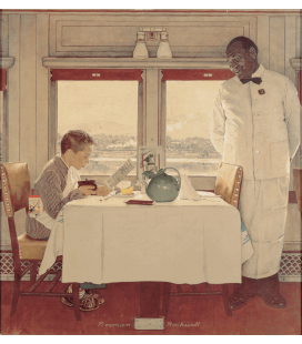 Norman Rockwell - Boy in a Dining Car. Printing on canvas