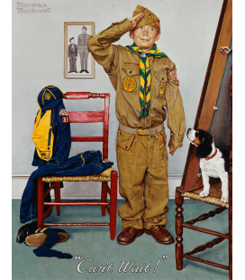 Stampa su tela: Norman Rockwell - Boy Scout