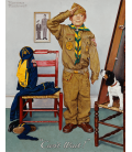 Norman Rockwell - Boy Scout. Stampa su tela