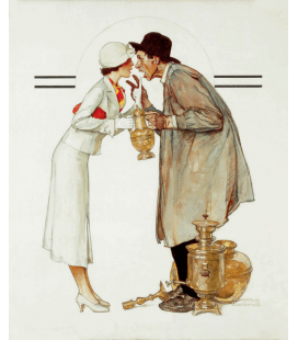 Norman Rockwell - Brass Merchant. Printing on canvas
