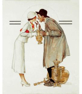 Stampa su tela: Norman Rockwell - Brass Merchant