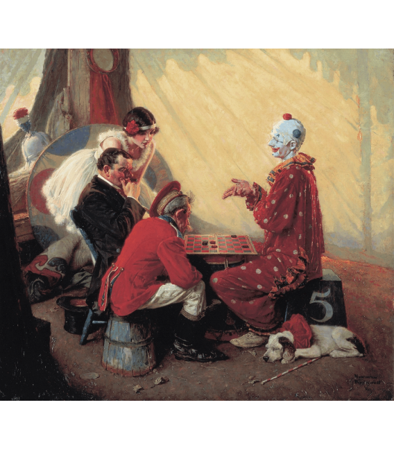 Printing on canvas: Norman Rockwell - Checkers