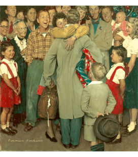 Stampa su tela: Norman Rockwell - Christmas Homecoming