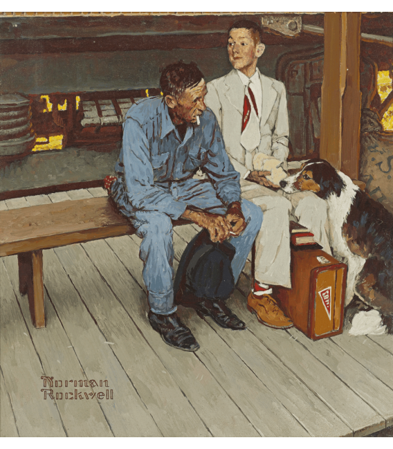 Printing on canvas: Norman Rockwell - Color Study home for breaking ties