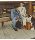 Stampa su tela: Norman Rockwell - Color study for breaking home ties