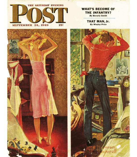 Stampa su tela: Norman Rockwell - Copertina per Saturday Evening Post