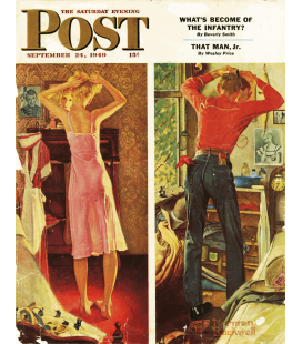 Norman Rockwell - Copertina per Saturday Evening Post. Stampa su tela