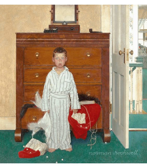 Printing on canvas: Norman Rockwell - Discovering Santa