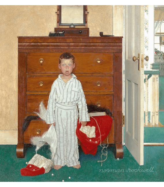 Stampa su tela: Norman Rockwell - Discovering Santa