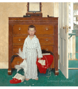 Stampa su tela: Norman Rockwell - Discovering Santa