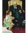 Norman Rockwell - Doctor and Doll. Printing on canvas